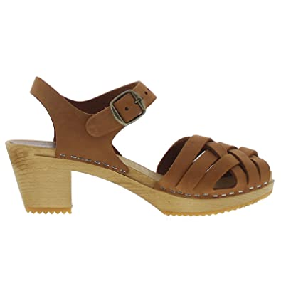 Moheda Womens Betty Brown Nubuck Leather Sandals 37 EU