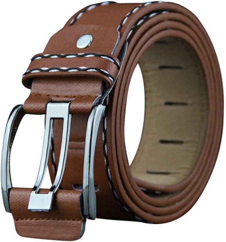 IUYT Correa Masculina automática Hebilla de Cuero for los Hombres auténtico Cinturones Faja Tendencia de los Hombres de la Manera de Las Mujeres del diseñador Jean Cinturón (Color : Brown)
