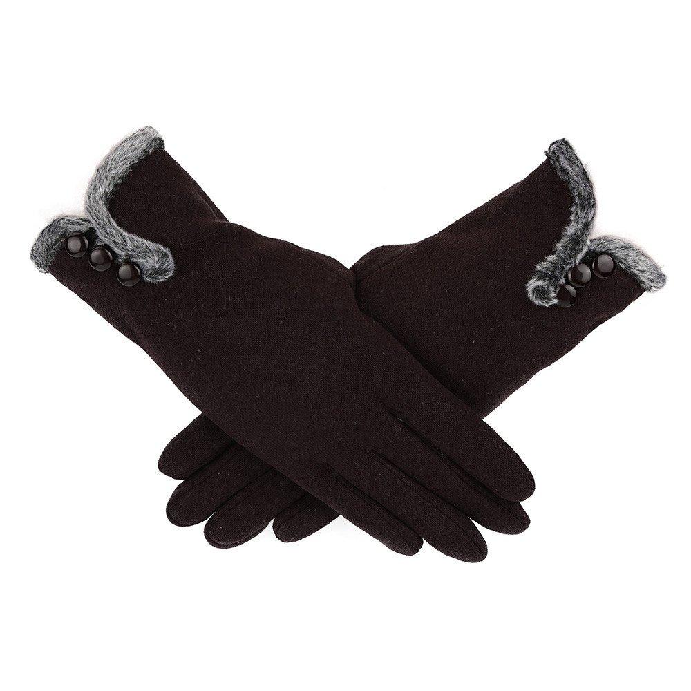 Fossen Guantes de Tactil Pantalla para Mujer Elegante Guantes Termicos del Invierno