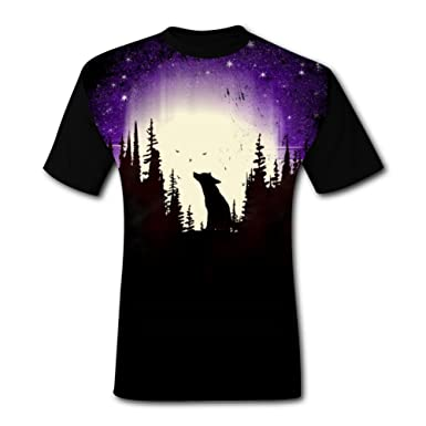26c9ef74 Image Unavailable. Image not available for. Color: Deborahbe Forest Fox  Men's T-Shirt Short Sleeve Air Tee Shirt Sports Tshirt for Men