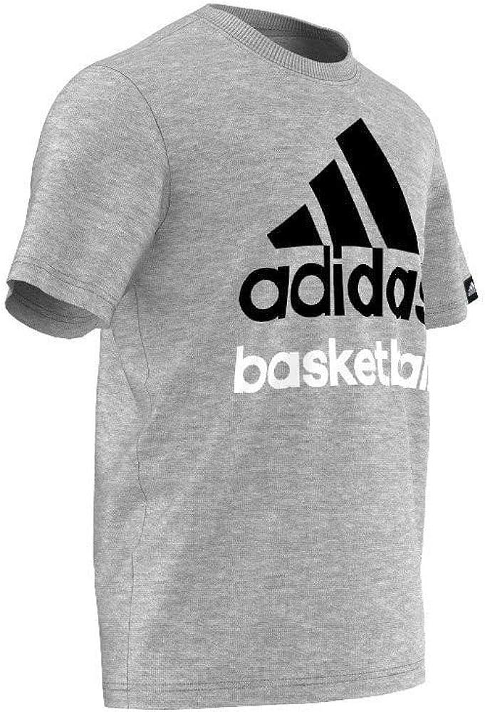 Camisetas Adidas Basketball -Gris-: Amazon.es: Ropa y accesorios