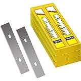 "4"" Scraper Blades 60 pcs Replacement Stainless Steel Razor Blade for Scraper to Remove Wallpaper Adhesive Vinyls"