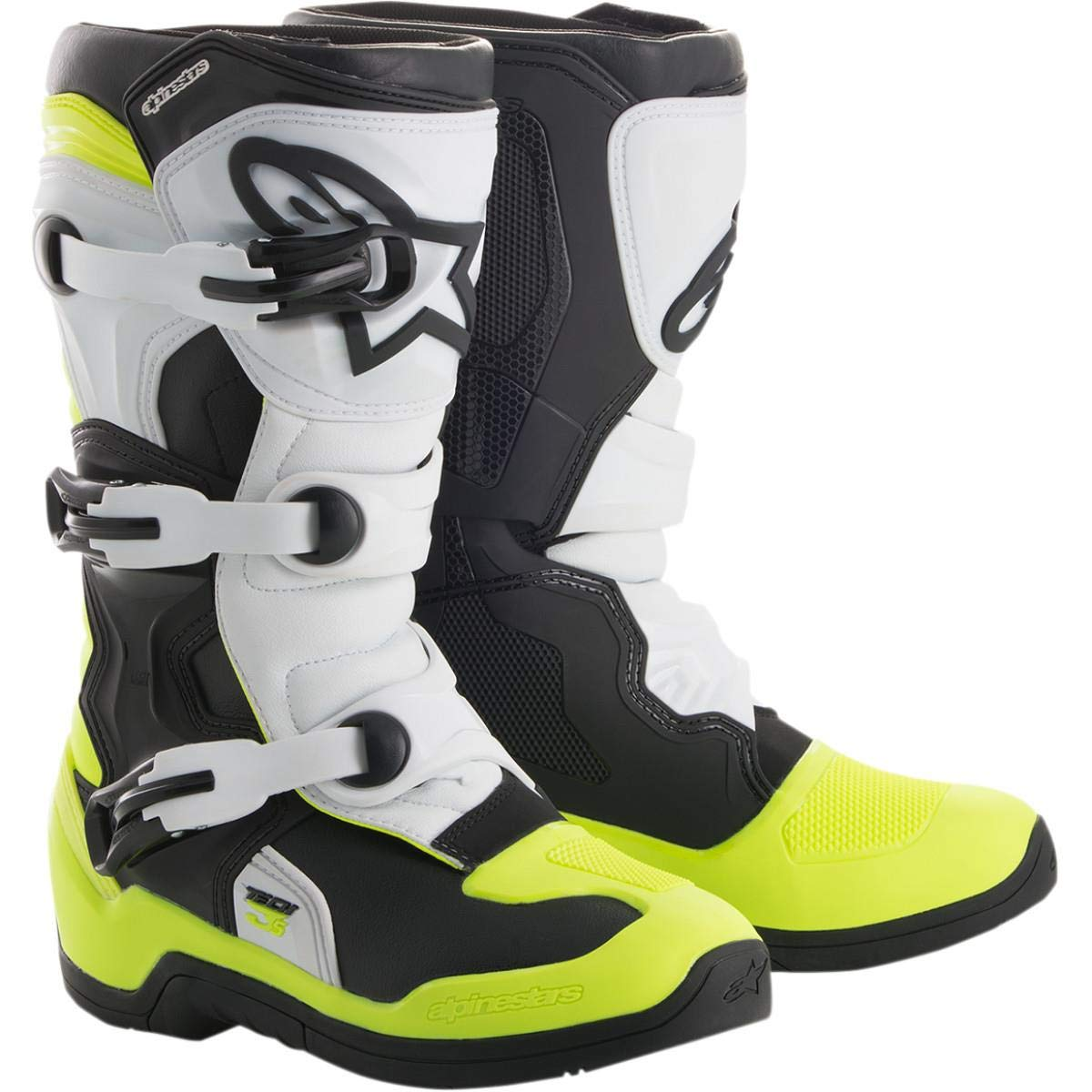 Alpinestars Youth Tech 3S Boots-Black//White//Yellow Flo-Y3