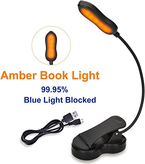 Ideal for Bookworms Clip on Book Lamp Blue Light Blocking Amber ...