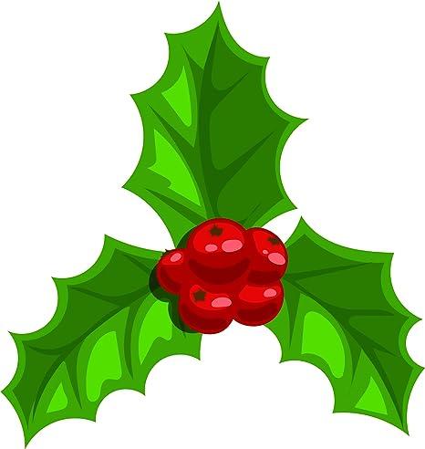 Christmas Holly Cartoon.Amazon Com Simple Holiday Christmas Holly Mistletoe Cartoon