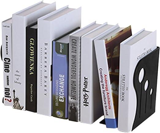livre Elastique Presse-livres Fournitures en M/étal Classement Rangement Magazine Livres Pour Bureau Maison Biblioth/èque Longue Dur/ée Presse-livres Antid/érapante Noir Serre