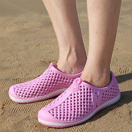 Calzado Casual Pk222 Marea Verano Sandalias Parejas Zapatos Playa Flop Flip La Hombres Zapatillas Media Lin De Xing Transpirable Hueca Agujero Masculina pink RfZ7a