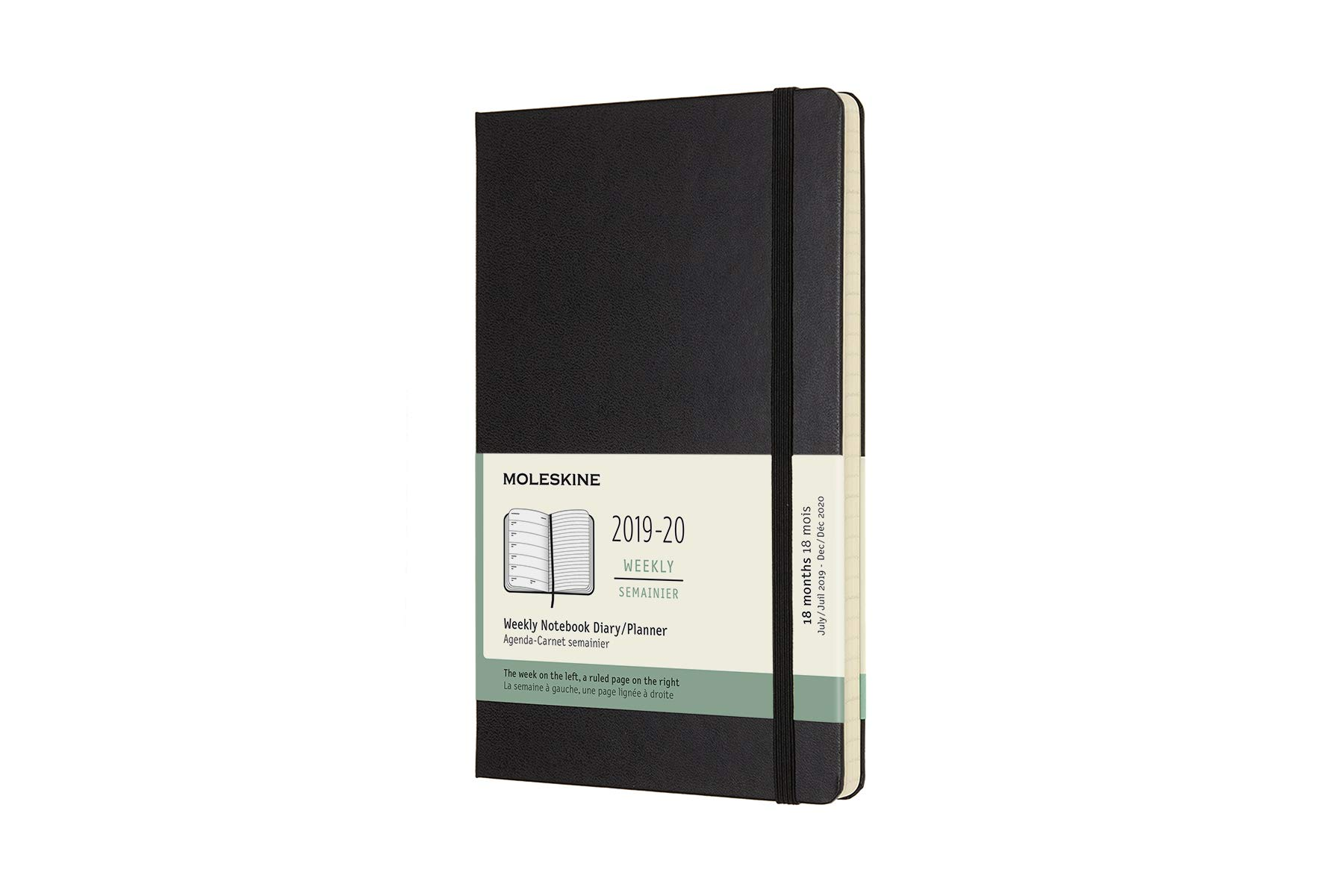 Moleskine Classic 18 Month 2019-2020 Weekly Planner, Large