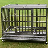 Bestmart INC 37' Heavy Duty Dog Cage Crate Kennel Metal Pet Playpen Portable w/ Tray NEW (36.3'(L) x 24.2'(W) x 29.1' (H))
