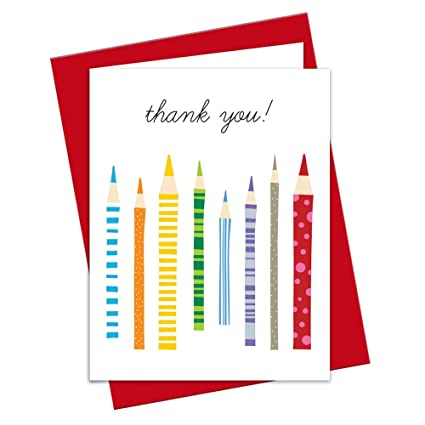 Amazon.com : Thank You Notes for Teachers - Modern Design Colored ...
