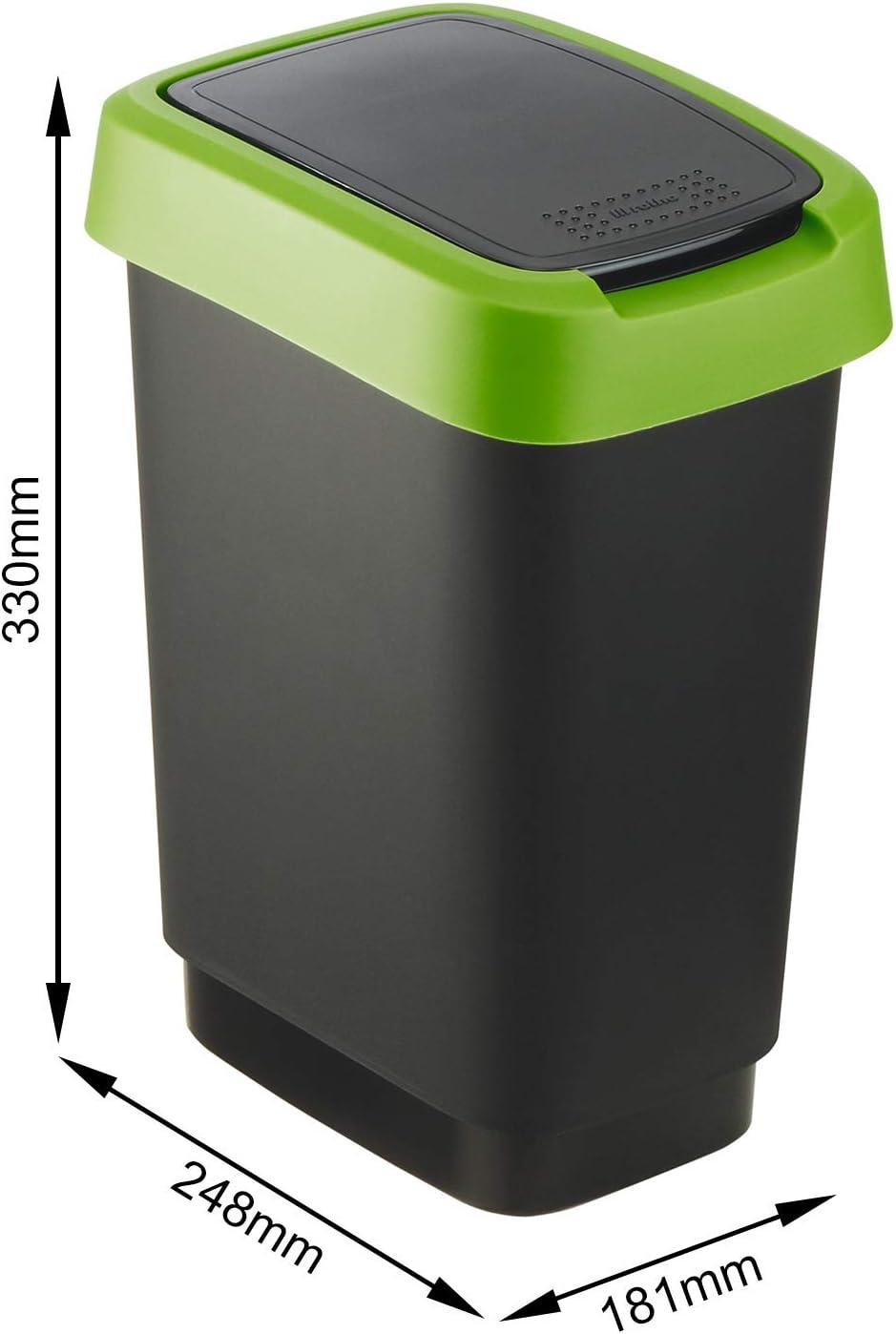 Spirella Sydney Black Abfalleimer Mülleimer Eimer Swiss Design Schwarz Waste Bin
