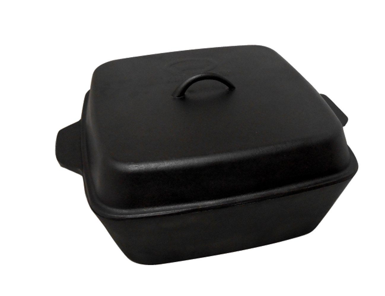 King Kooker CIOR12S Seasoned Cast Iron Roaster with Lid, 12-Quart