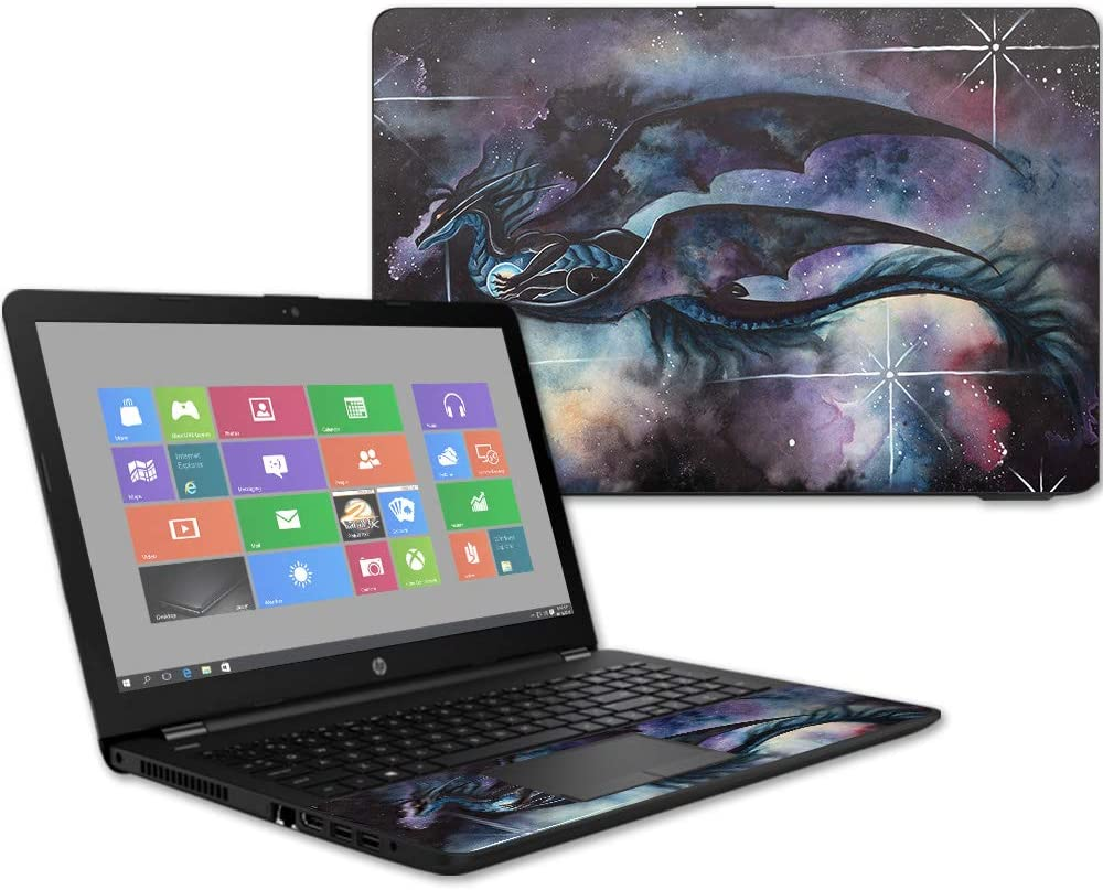 "MightySkins Skin Compatible with HP 15t Laptop 15.6"" (2017) - Midnight Dragon 