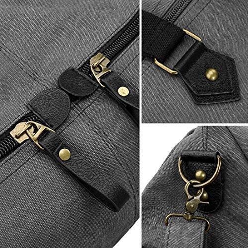 Womens Large Satchel Slate Handle Handbag Material Double Gray Top BMC Durable Canvas Sw0dSA