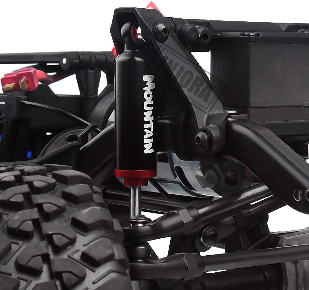 INJORA RC Amortiguadores RC Shock Absorber RC Damper Set para 1/10 RC Truck Crawler Axial SCX10 90046 TRX-4 MST Redcat (Negro 100mm)