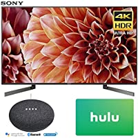 Sony XBR55X900F 55-Inch 4K Ultra HD Smart LED TV (2018 Model) with Google Home Mini (Charcoal) + Hulu $25 Gift Card