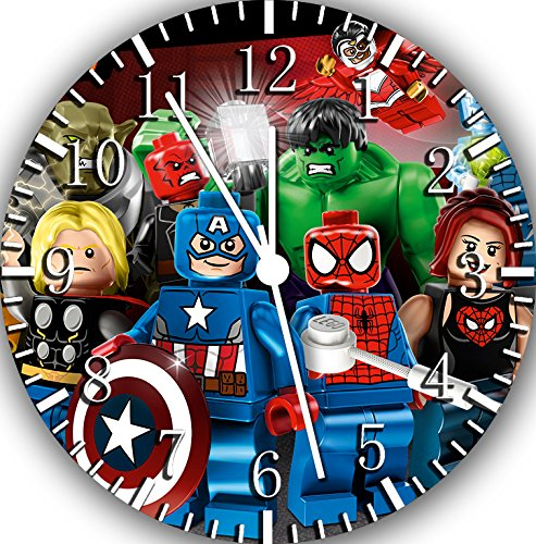 Lego Avengers Borderless Wall Clock