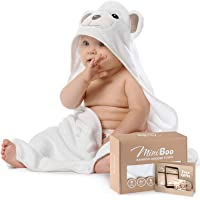 Premium Ultra Soft Organic Bamboo Baby Hooded Towel with Unique Design – Hypoallergenic Baby Towels for Infant and…