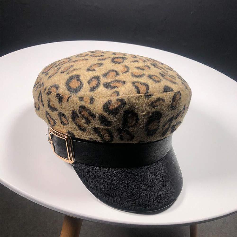 Shaoqingren Sombrero Militar con Estampado de Leopardo Sombreros ...