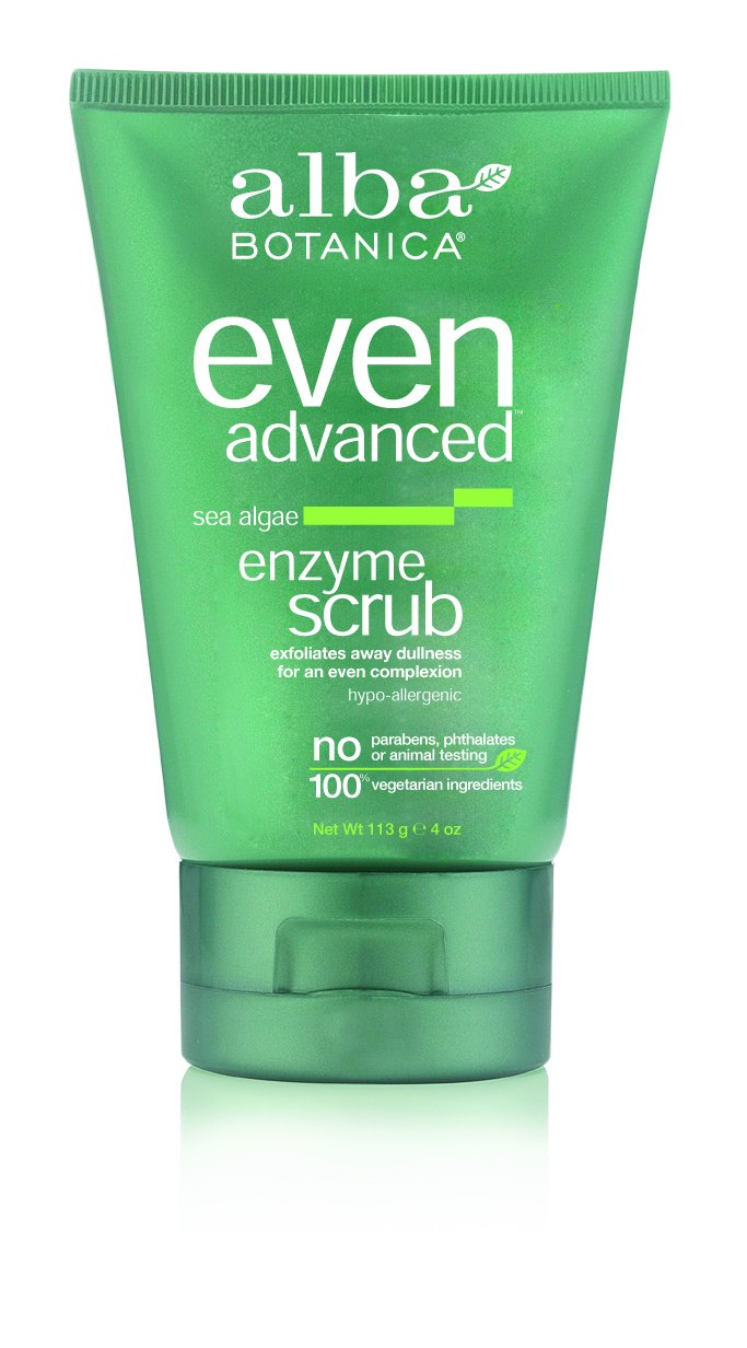 Alba Botanica Even Advanced, Sea Algae Enzyme Scrub, 4 Ounce