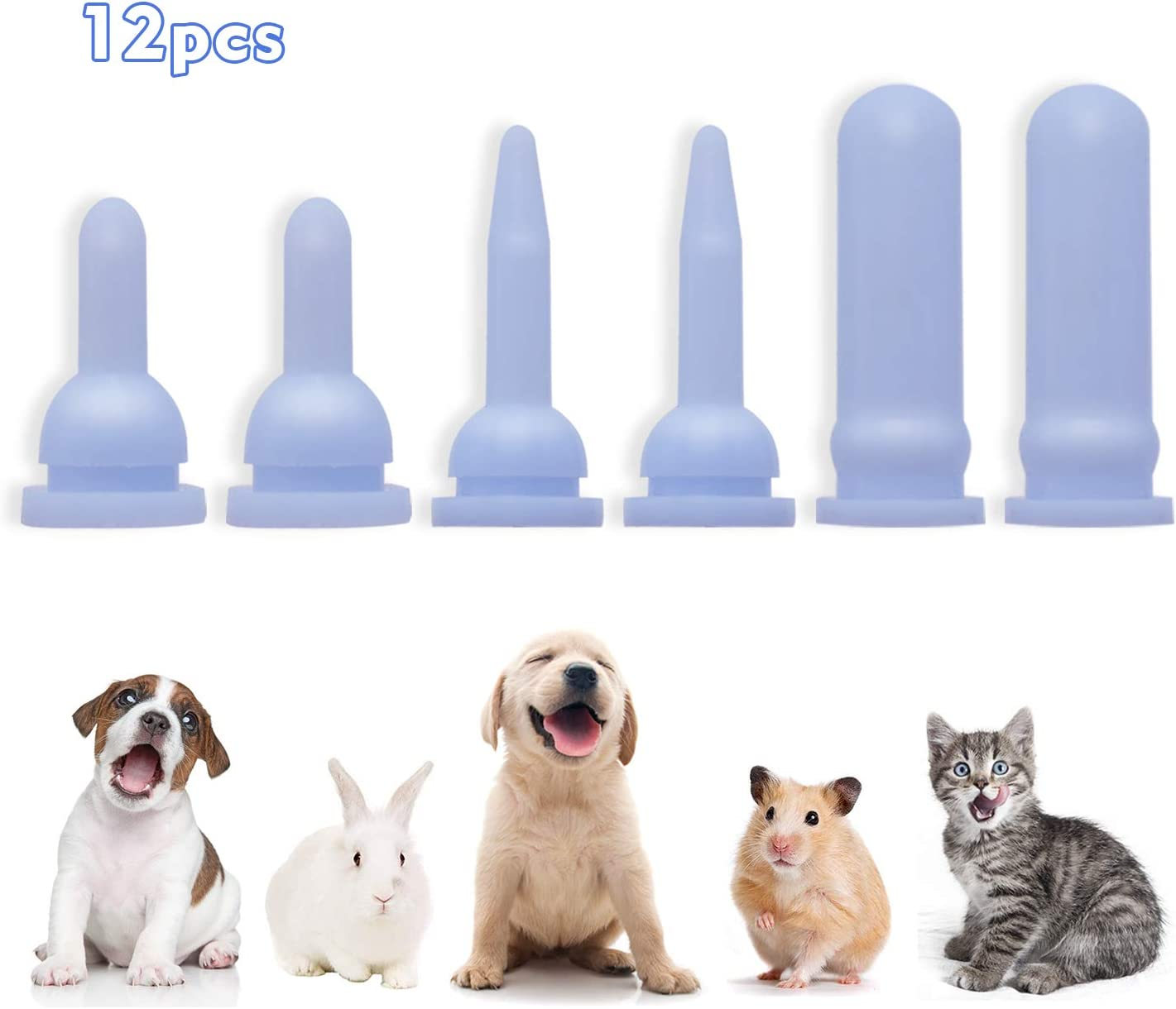 Replacement Nurser Nipples, Pet Foods Silicone Mothering Nipples for Puppies Kittens Bunnies and Baby Ferrets