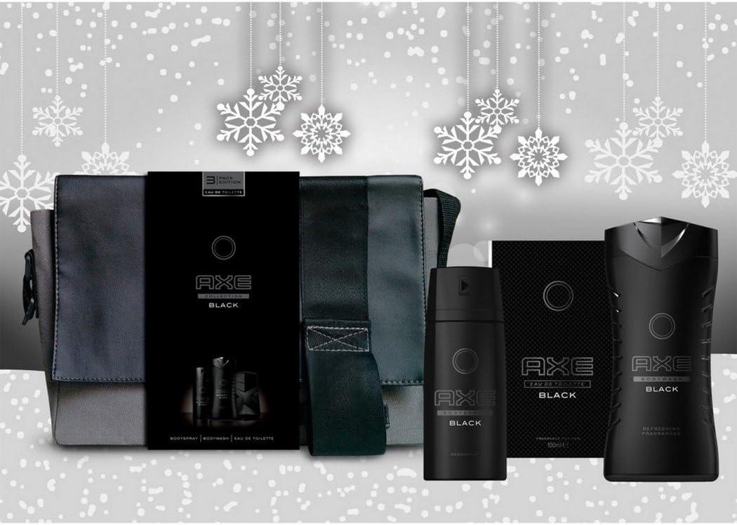 Axe Black - Neceser de regalo con agua de Colonia + desodorante + gel de ducha para hombre: Amazon.es: Belleza