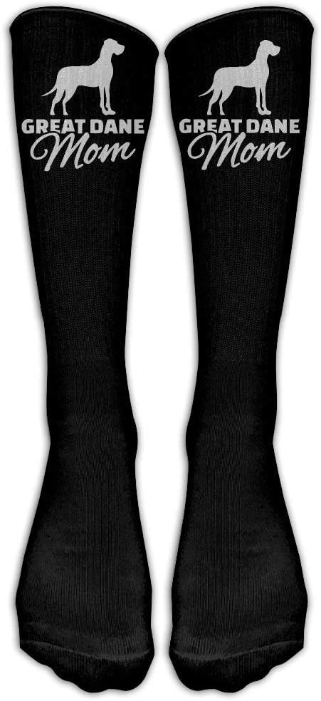 FUNINDIY Great DANE MOM Casual Unisex Sock High Socks Sport Athletic Crew Socks