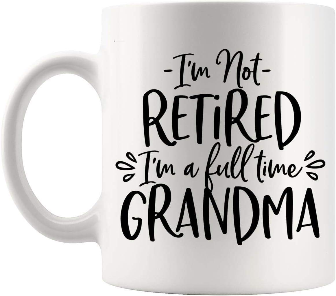 N\A Jubilados Jubilados - Taza de Taza de la Abuela jubilada de 11 oz para Mujeres - Día de la Madre Abuela jubilada Las Mejores Ideas para Regalos de jubilación: Camisa Divertida o pensativa
