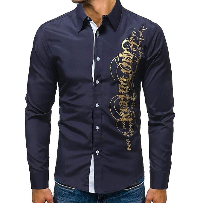 Camicia Uomo Slim Fit Maniche Lunghe Eleganti Confortevole