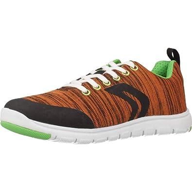Zapatillas para niño, Color Naranja, Marca GEOX, Modelo Zapatillas para Niño GEOX J Xunday Boy Naranja: Amazon.es: Zapatos y complementos