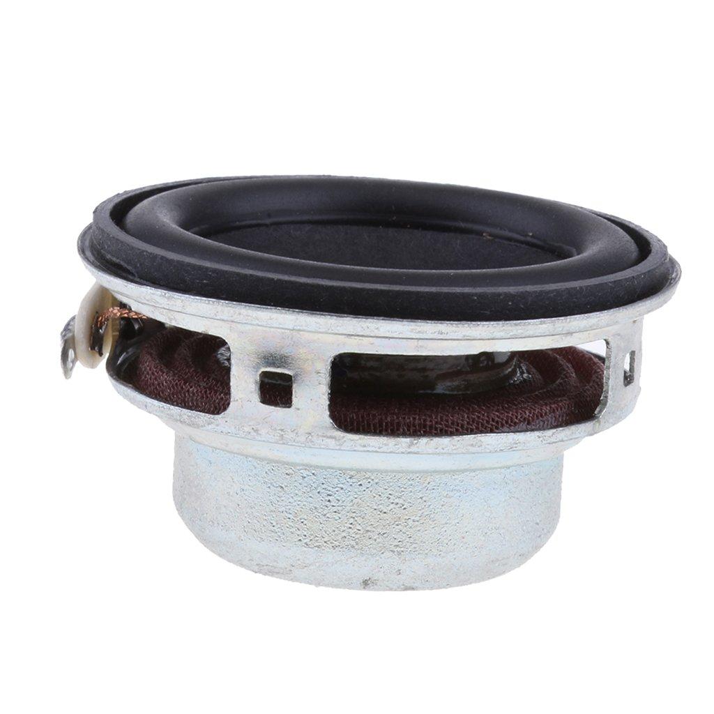 Baoblaze Boomers - subwoofer Gamme Complète Haut-parleur Rond Bord en Caoutchouc Bobine - 52mm 4ohm 5w