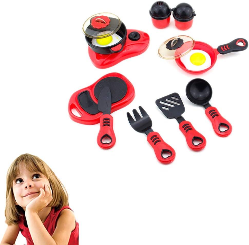 cdzhouji 12st K/üchenrollenspiel Spielzeug Kinderkochsets Chef Spielzeug Plastikgeschirr Geschirr Kochgeschirr Geschenk oder Jungen und M/ädchen