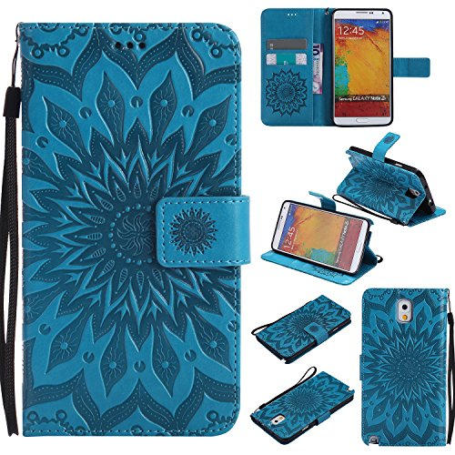 Galaxy Note 8 Wallet Case,A-slim(TM) Beauty Fashion Sun Pattern Embossed PU Leather Magnetic Flip Cover Card Holders & Hand Strap Wallet Purse Cover Case for iPhone 7 Plus