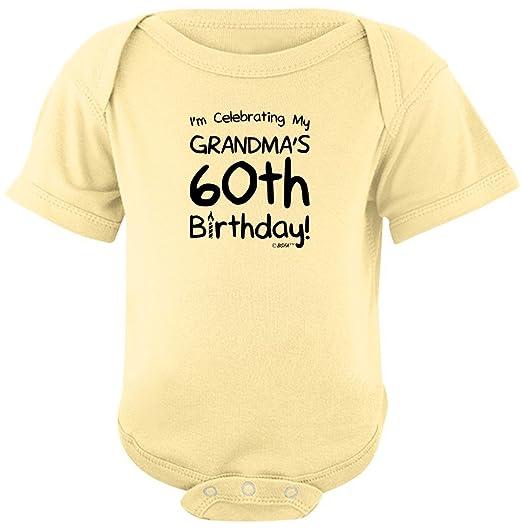 Baby Registry Gifts Celebrating My Grandmas 60th Birthday Bodysuit Newborn Banana