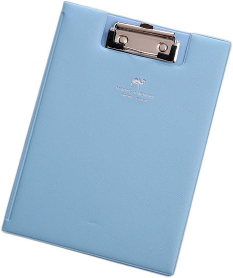 colore: nero portablocco in pelle Fablcrew portadocumenti per ufficio o scuola formato A5