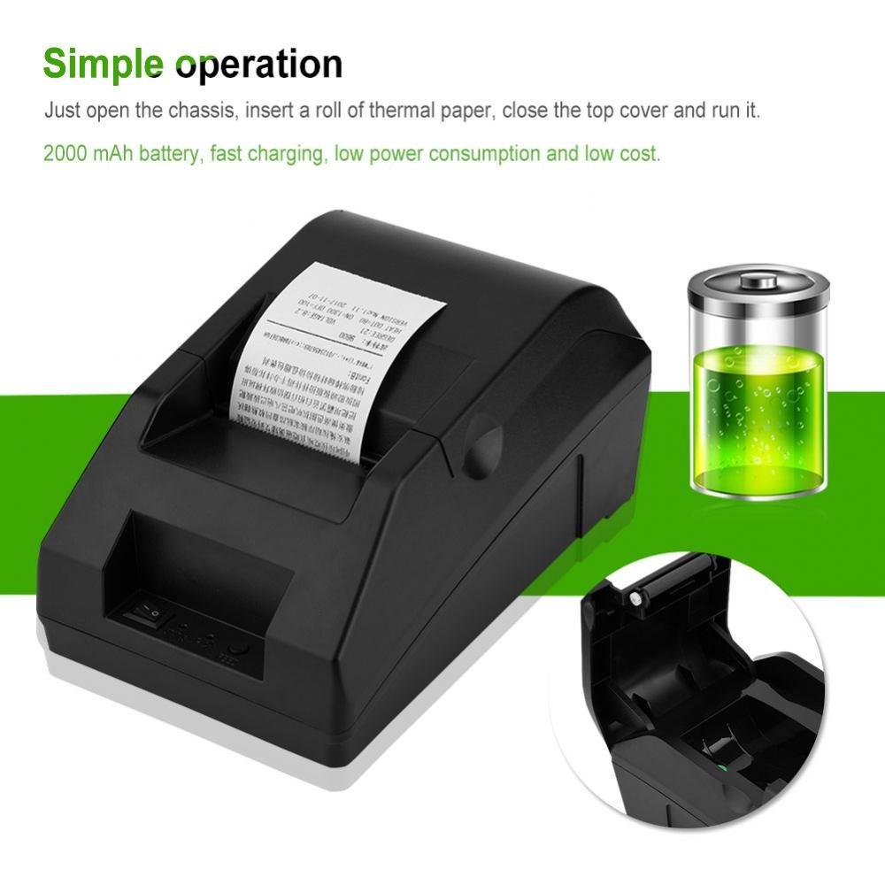 Eboxer Imprimante Thermique Bluetooth Mini Imprimante /à Re/çu sans Fil avec Ports USB POS//ESC Impression Enregistreuse de 48MM pour iOS//Android//Windows//Linux Noir