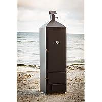 Smoki Räucherschrank schwarz XXL Smoking Box Garten ✔ eckig ✔ Grillen mit Holzkohle