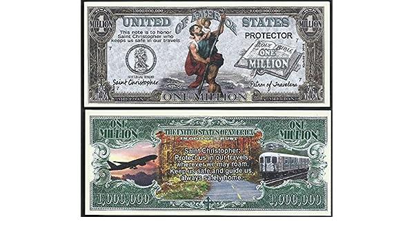 St Christopher Patron of Travelers Million Dollar Novelty Money