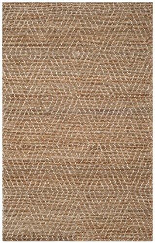 Safavieh BOH801A-5 Bohemian Collection Handmade Area Rug, 5' x 8' , Brown/Beige Jute