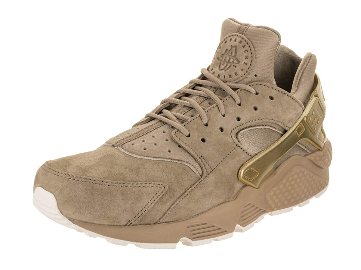 NIKE Herren Air Huarache Run PRM Khaki MTLC Goldmünze Segel Laufschuh 9 US 8 UK Khaki MTLC Goldmünze Sail