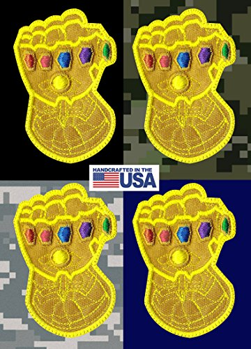 Infinity Gauntlet Stones Thanos Avengers Inspired Art Tactical Morale Hook  Loop Compatible Patch