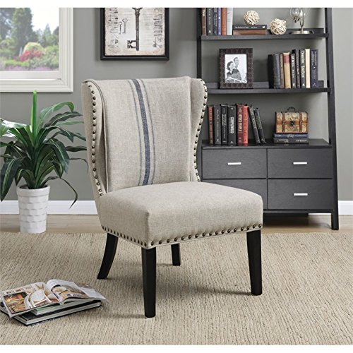Coaster 902496-CO Upholstered Accent Chair, Grey/Black