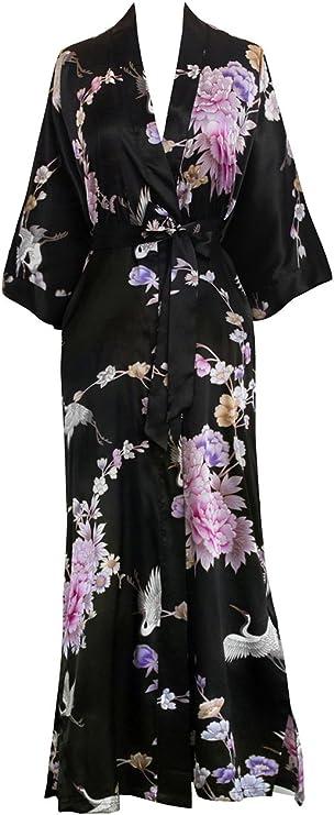Bohemian Medallion \u2022Silk Charmeuse Fringe Robe Vintage Fabric 1930s inspired Dressing Gown One Size \u2022Heron
