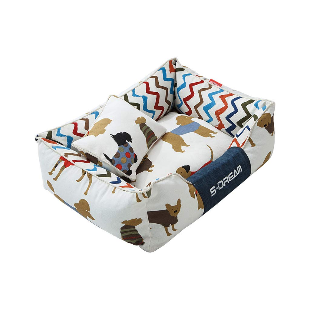 S Pet Orthopedic Bed Mat, Puppy Kitten Sleeping Bed, Washable and Resistant Bite Chaise Pet Pads (Size   S)