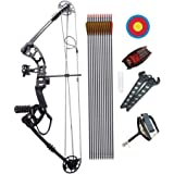 Junxing Compound Bow Right Hand and Arrows for Compound Bows 40-55lbs with Max Speed 310fps