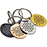 Premium Engraved Personalised Pet Dog Cat Puppy Name ID Bone Round Tag Collar