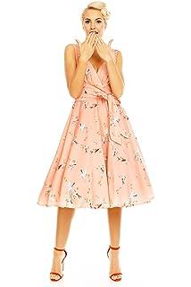 Schmetterling Drucken Looking Glam Retro Vintage kleid Für Frauen