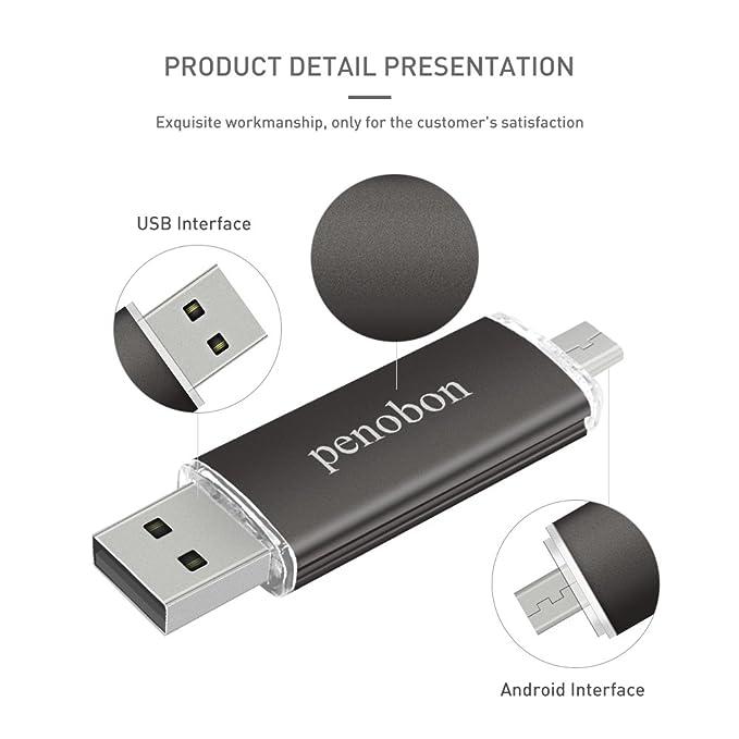 Amazon.com: Penobon OTG pen drive 32GB USB flash drive ...