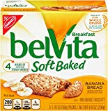 yogurt bars kids - belVita Banana Bread Soft Baked Breakfast Biscuits, 5 Count Box, 8.8 Ounce (Pack of 6)