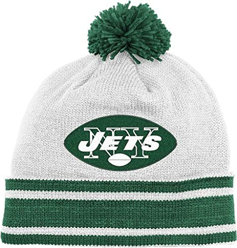 Image Unavailable. Image not available for. Color  New York Jets Throwback  Jersey Stripe Cuffed Knit Hat ... 9493d7cb42b